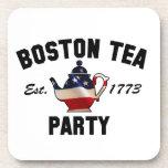 Fiesta del té de Boston Posavasos De Bebida