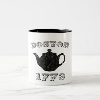 fiesta del té de Boston Taza Dos Tonos