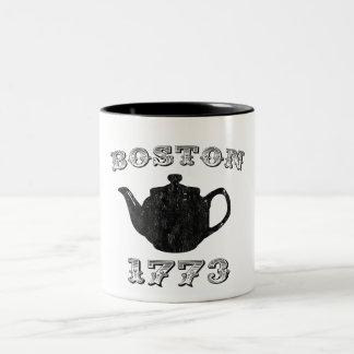 fiesta del té de Boston Taza De Café De Dos Colores