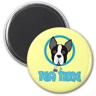 Fiesta del té de Boston Terrier Imán De Frigorifico