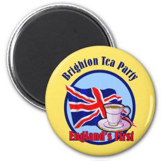 Fiesta del té de Brighton Imán Redondo 5 Cm
