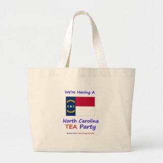 ¡Fiesta del té de Carolina del Norte - gravada bas Bolsa