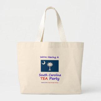 ¡Fiesta del té de Carolina del Sur - gravada basta Bolsa