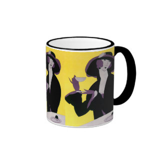 Fiesta del té de consumición de la tarde de la taza a dos colores