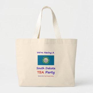 ¡Fiesta del té de Dakota del Sur - gravada bastant Bolsa