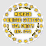 Fiesta del té de Estados Unidos Etiquetas