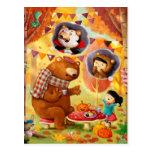 Fiesta del té de Halloween Postal