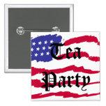 Fiesta del té de la bandera del vuelo pins