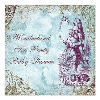 Fiesta del té de la fiesta de bienvenida al bebé invitación 13,3 cm x 13,3cm