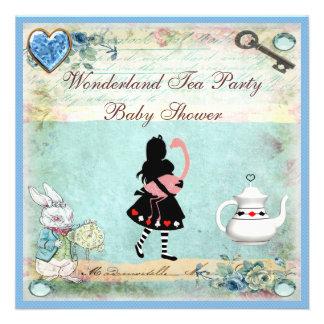 Fiesta del té de la fiesta de bienvenida al bebé comunicado