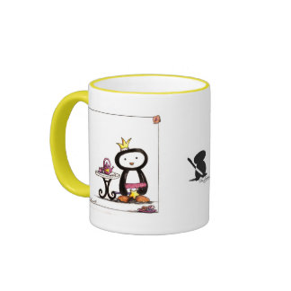 Fiesta del té de la pluma tazas