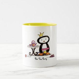 Fiesta del té de la pluma taza de café
