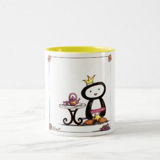 Fiesta del té de la pluma tazas de café