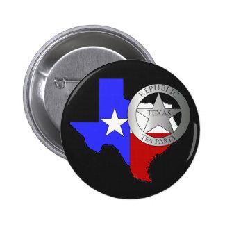 Fiesta del té de las Texas Rangers - negro Pin Redondo 5 Cm