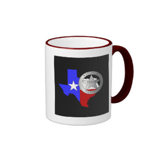 Fiesta del té de las Texas Rangers - negro Taza De Dos Colores