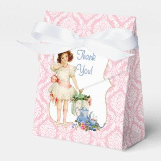 Fiesta del té de los chicas cajas para regalos de boda
