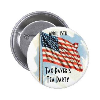 Fiesta del té de los contribuyentes pin