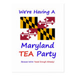 ¡Fiesta del té de Maryland - ya nos gravan bastant Tarjeta Postal