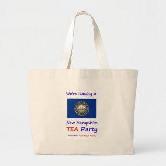 ¡Fiesta del té de New Hampshire - gravada bastante Bolsa De Mano