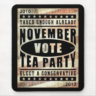 Fiesta del té de noviembre mousepad