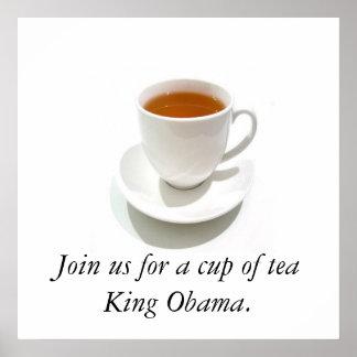Fiesta del té de Obama Póster