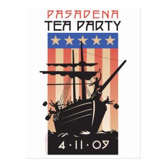 Fiesta del té de Pasadena Postal