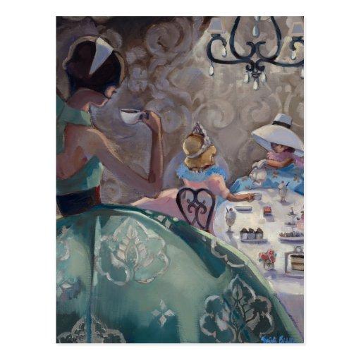 Fiesta del té de Trish Biddle Tarjetas Postales