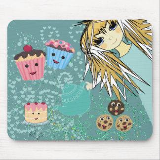 Fiesta del té del animado - Kawaii Alfombrilla De Ratón