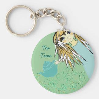 Fiesta del té del animado - llaveros