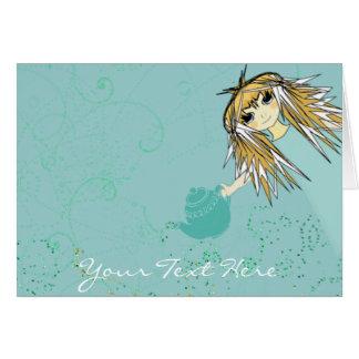 Fiesta del té del animado - modificada para tarjeta de felicitación