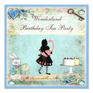 Fiesta del té del cumpleaños del país de las invitación 13,3 cm x 13,3cm