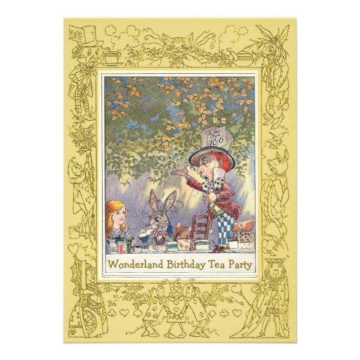Fiesta del té del cumpleaños del país de las marav comunicado