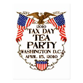 Fiesta del té del día de 2010 impuestos postales