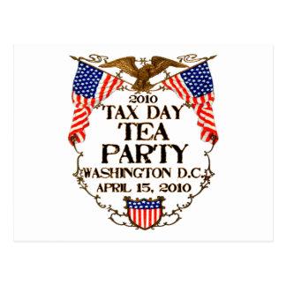 Fiesta del té del día de 2010 impuestos tarjetas postales
