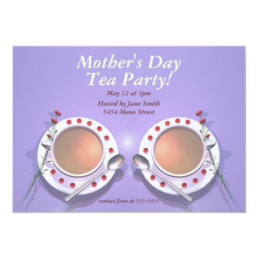 """Fiesta del té del día de madres invitación 5"""" x 7"""""""