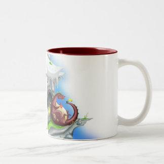Fiesta del té del dragón tazas