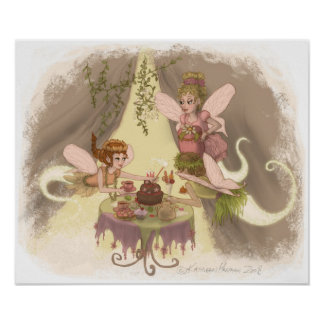Fiesta del té del duendecillo póster