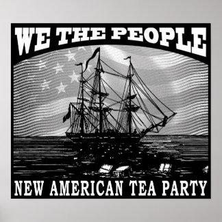 Fiesta del té del impuesto póster