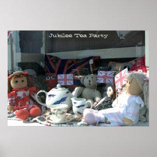 Fiesta del té del jubileo A003_005 - poster Póster