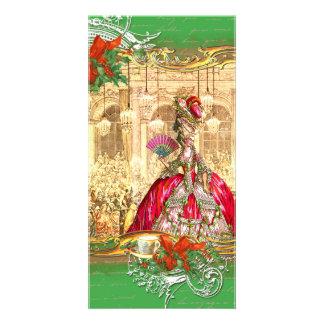 Fiesta del té del navidad de Marie Antonieta Versa Tarjetas Fotograficas