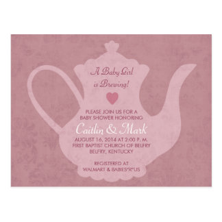 Fiesta del té del vintage - una niña está postal