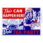 Fiesta del té del voto felicitacion