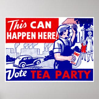 Fiesta del té del voto póster