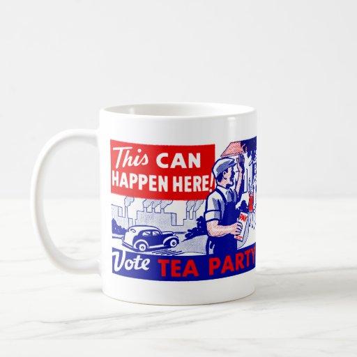 Fiesta del té del voto taza