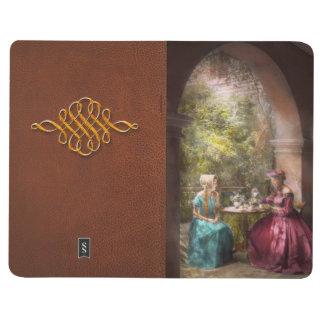 Fiesta del té - distribución de té con la abuela cuadernos grapados