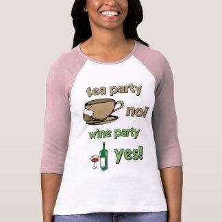 Fiesta del té divertida camiseta