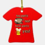 Fiesta del té divertida ornamentos de reyes magos
