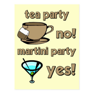 Fiesta del té divertida postales
