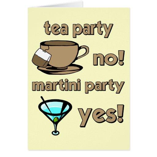 Fiesta del té divertida tarjeta de felicitación