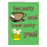 Fiesta del té divertida tarjetas